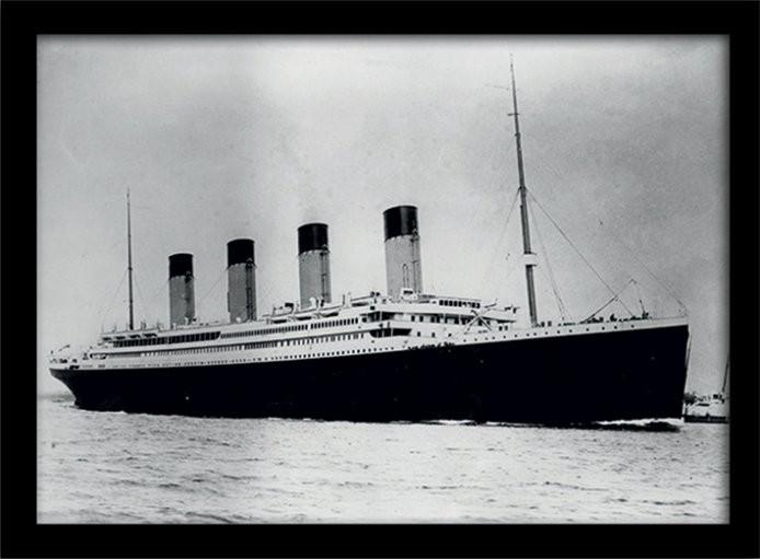 Zarámovaný plagát Titanic (2)
