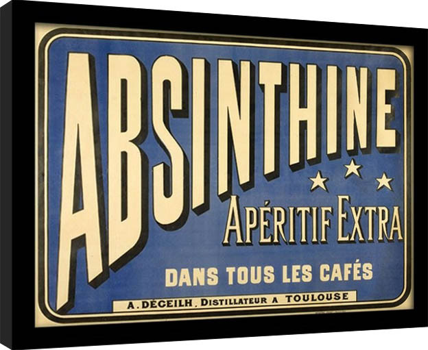 Absint - Absinthe Aperitif zarámovaný plakát