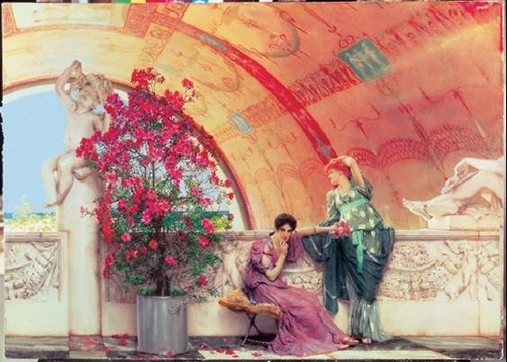 Obrazová reprodukce Alma-Tadema - Unconscious Rivals 1873