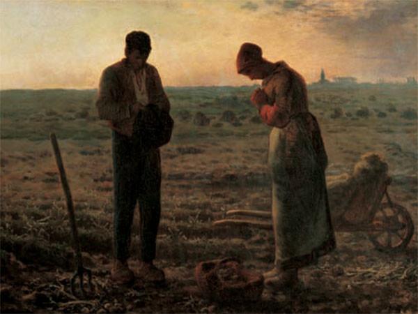Obrazová reprodukce Anděl Páně - Klekání, Angelus