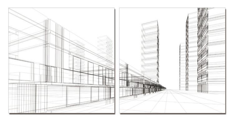 Obraz Architektura - město