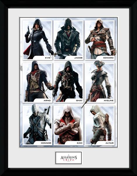 Assassins Creed - Compilation Characters Zarámovaný plagát