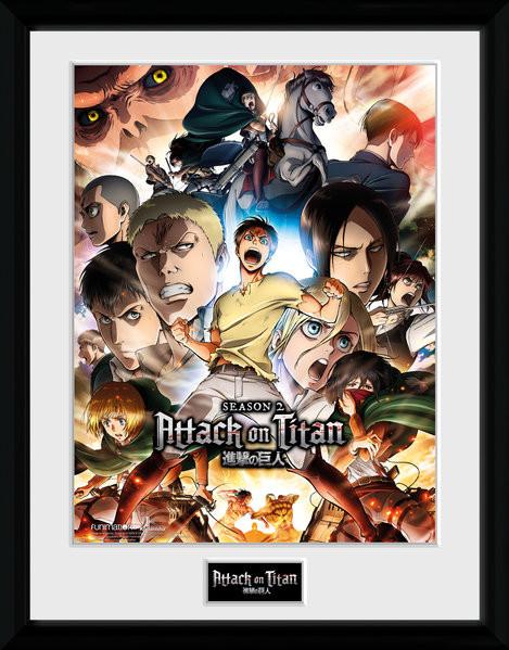Attack on Titan Season 2 - Collage Key Art zarámovaný plakát