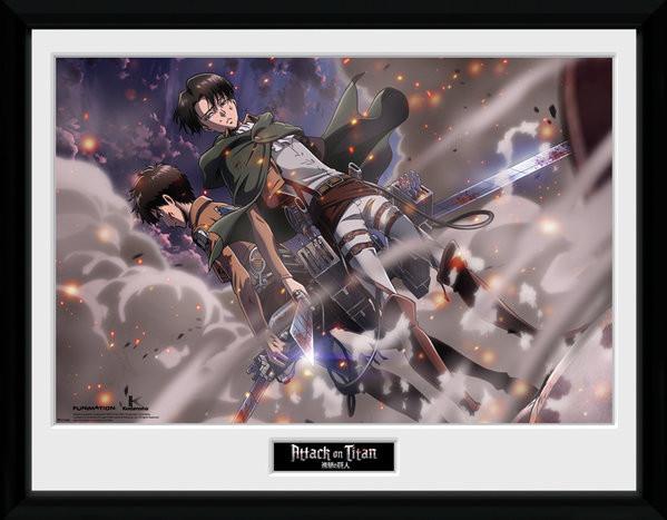 Attack On Titan - Smoke Blast zarámovaný plakát