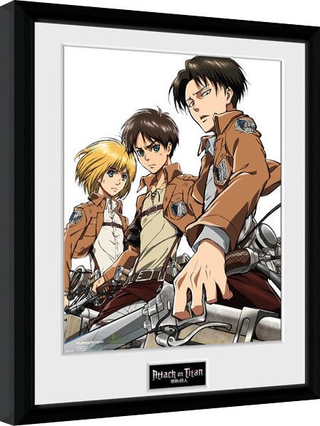 Attack On Titan - Trio zarámovaný plakát