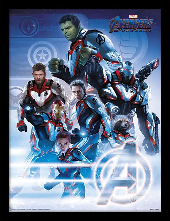 Avengers: Endgame - Quantum Realm Suits zarámovaný plakát