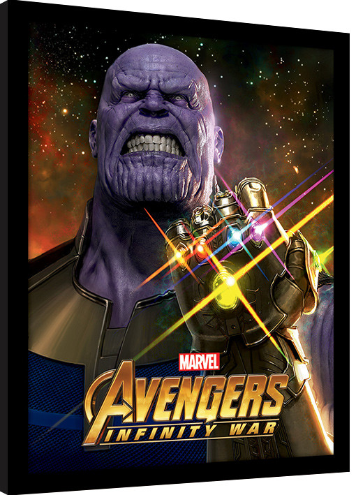 Avengers Infinity War - Infinity Gauntlet Power zarámovaný plakát