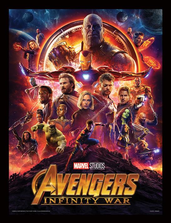 Avengers Infinity War One Sheet Zarámovaný Plakát