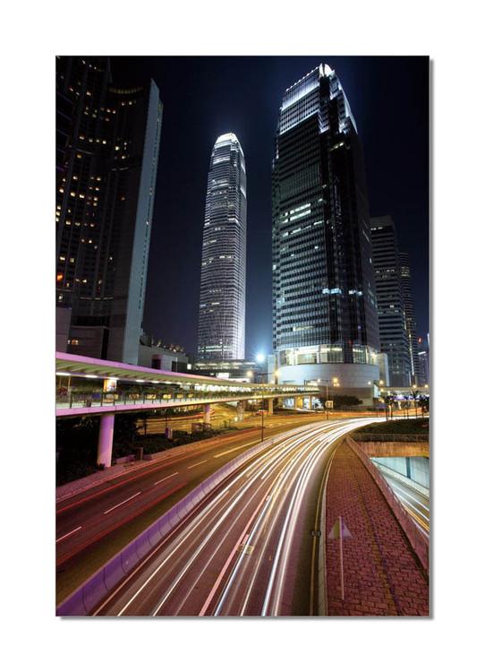 Obraz  Barevné noční město