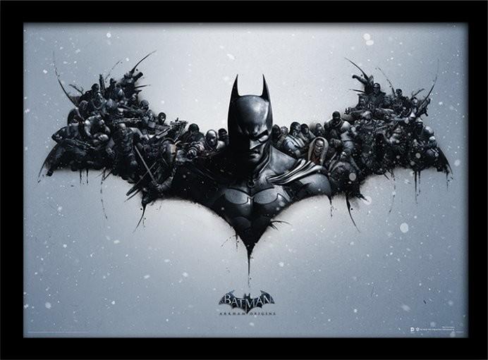 Batman: Arkham Origins - Logo zarámovaný plakát