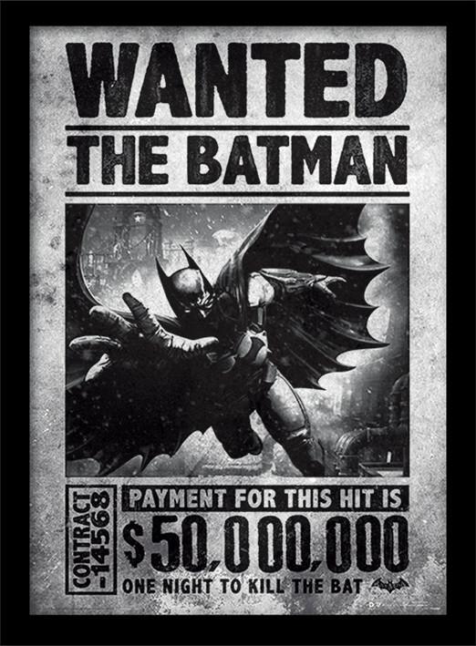 Batman: Arkham Origins - Wanted zarámovaný plakát
