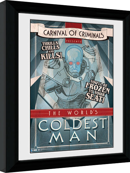Batman Comic - Circus Coldest Man zarámovaný plakát