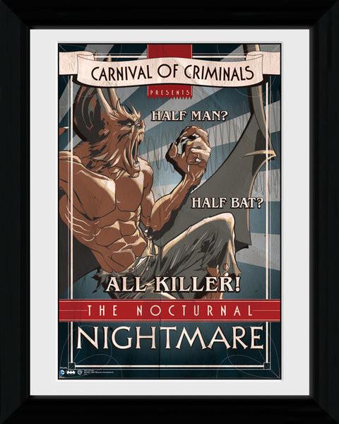 Batman Comic - Circus Nocturnal Nightmare zarámovaný plakát