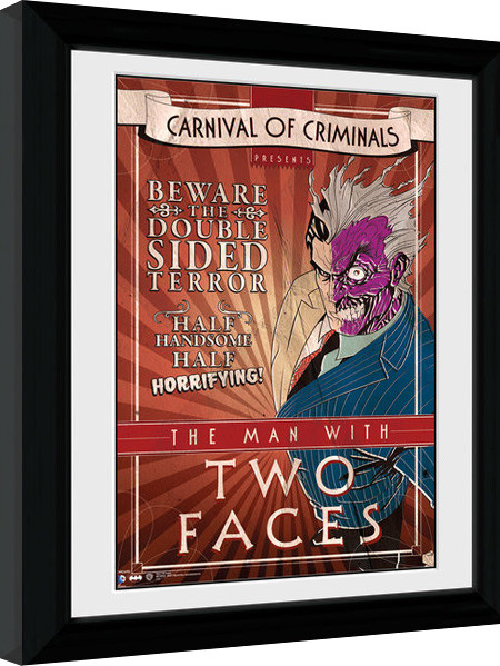 Batman Comic - Circus Two Face zarámovaný plakát