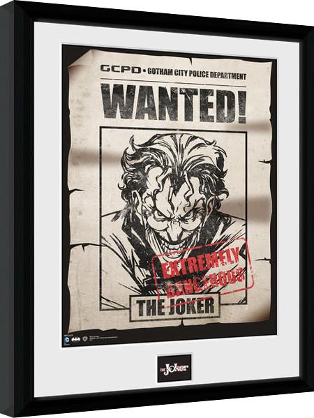 Batman Comic - Joker Wanted zarámovaný plakát