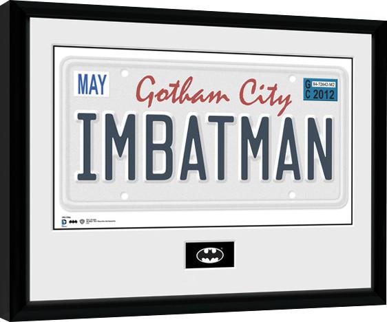 Batman Comic - License Plate zarámovaný plakát