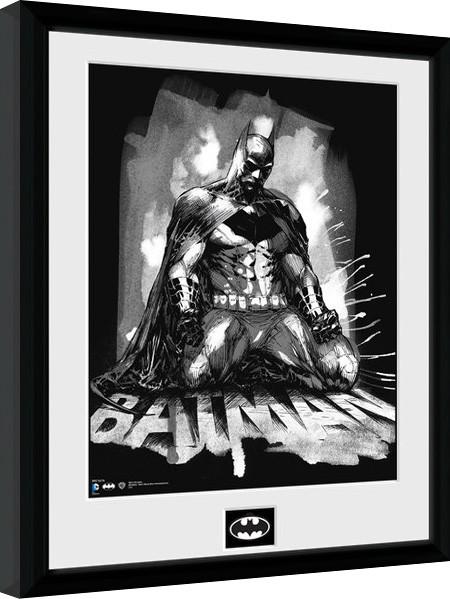 Batman Comic - Paint zarámovaný plakát