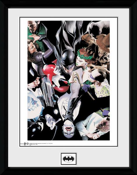 Batman Comic - Villains zarámovaný plakát