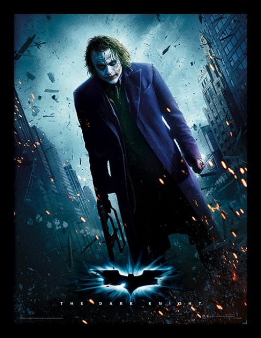 Batman: Temný rytíř - Joker Gun zarámovaný plakát