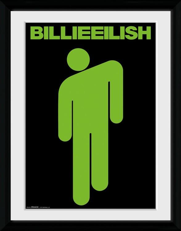 Billie Eilish Stickman Zarámovaný Plakát