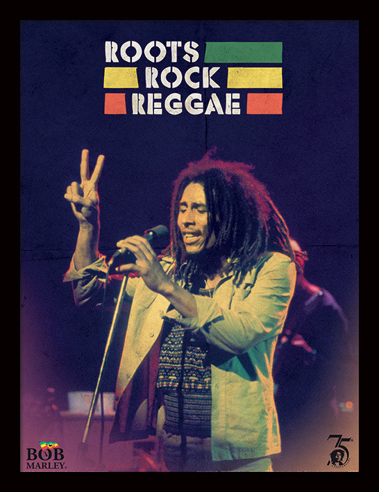Bob Marley - Roots Rock Reggae zarámovaný plakát