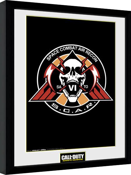 Call of Duty Infinite Warfare - Scar Logo zarámovaný plakát