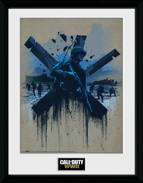 Call of Duty WWII - Front Line Beach zarámovaný plakát