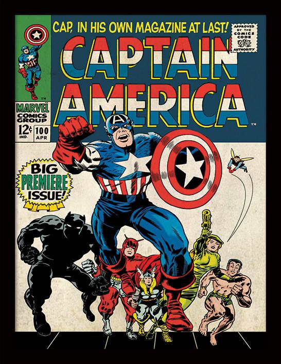 Captain America - Premiere zarámovaný plakát