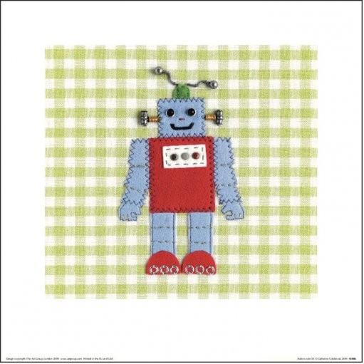 Obrazová reprodukce  Catherine Colebrook - Robots Rule OK