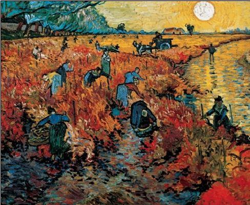 Obrazová reprodukce Červené vinice u Arles, 1888