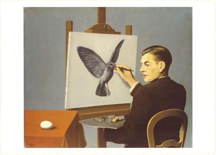 Obrazová reprodukce  Clairvoyance (Jasnozřivost) – Autoportrét, 1936