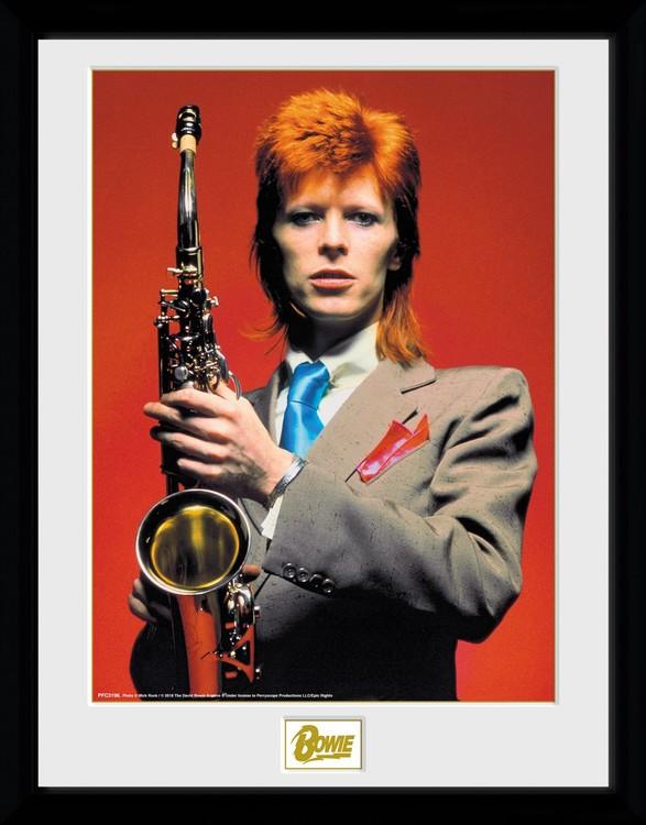 David Bowie - Saxophone Zarámovaný plagát
