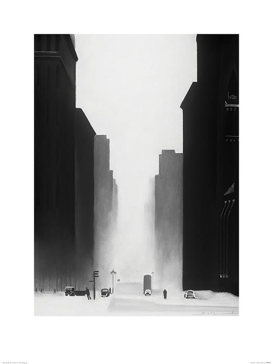 Obrazová reprodukce David Cowden - The Big City