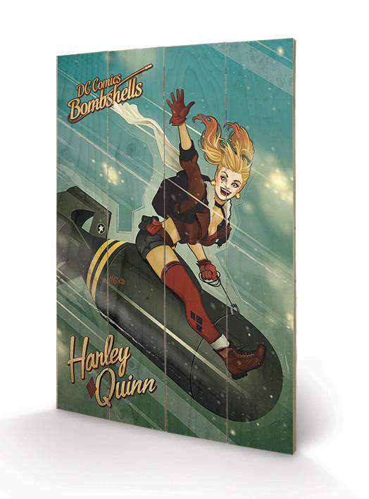 Obraz na drewnie DC Comics: Bombshells - Harley Quinn Bomb