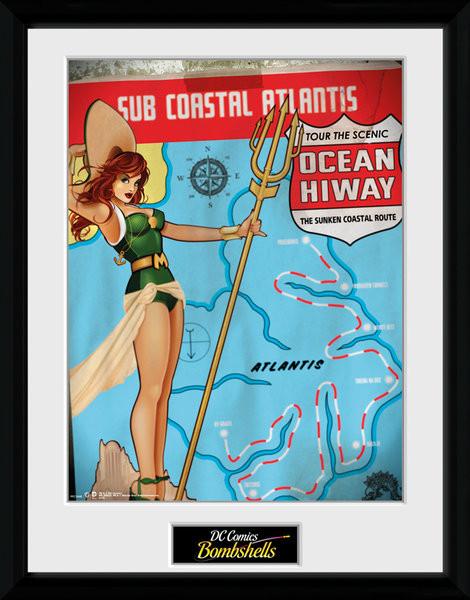 DC Comics - Mera Bombshells zarámovaný plakát