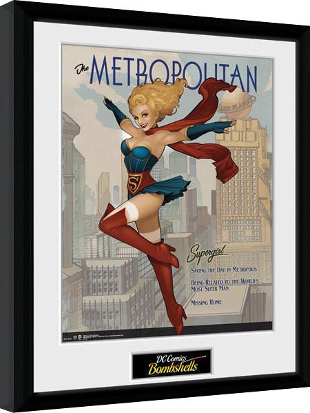 DC Comics - Supergirl Bombshells zarámovaný plakát