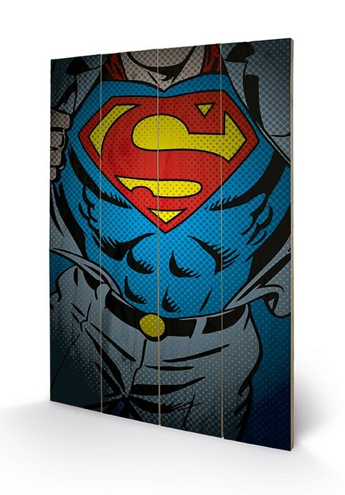 Obraz na drewnie DC Comics - Superman Torso