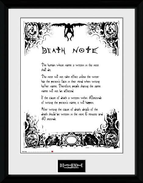 Death Note: Zápisník smrti - Death Note zarámovaný plakát