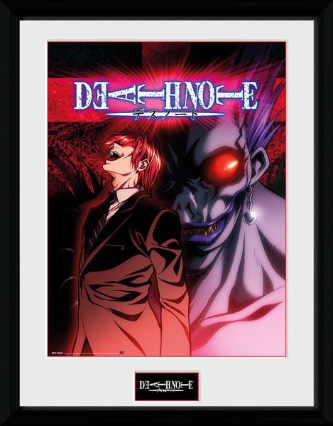 Death Note: Zápisník smrti - Light & Ryuk zarámovaný plakát