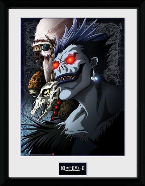 Death Note: Zápisník smrti - Shinigami zarámovaný plakát