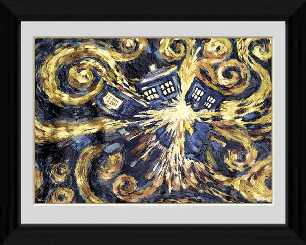Doctor Who - Exploding Tardis zarámovaný plakát