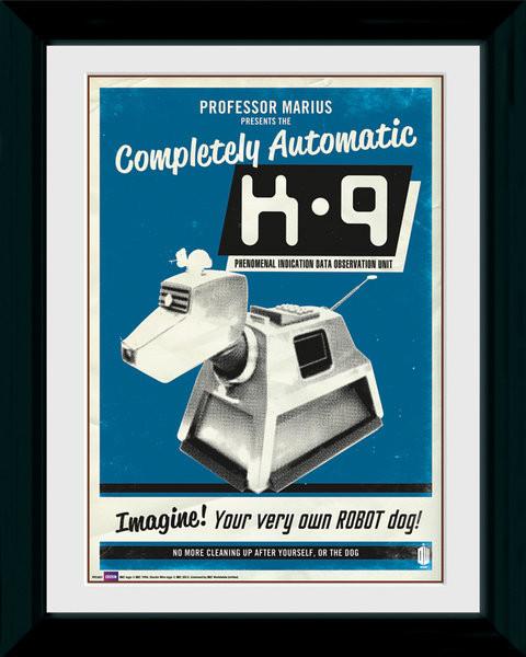 Doctor Who - K9 zarámovaný plakát