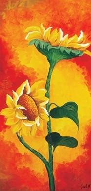 Obrazová reprodukce  Dvě slunečnice