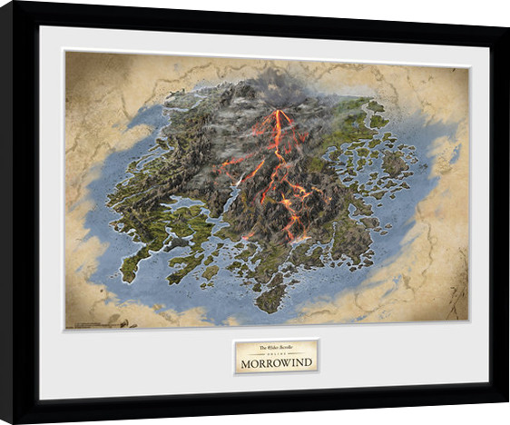Elder Scrolls Online Morrowind Map Oprawiony Plakat Obraz Kup Na Posterspl