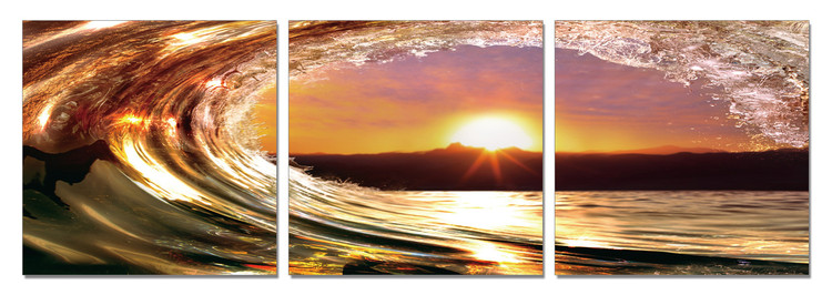 Obraz Falling tide - Sunset