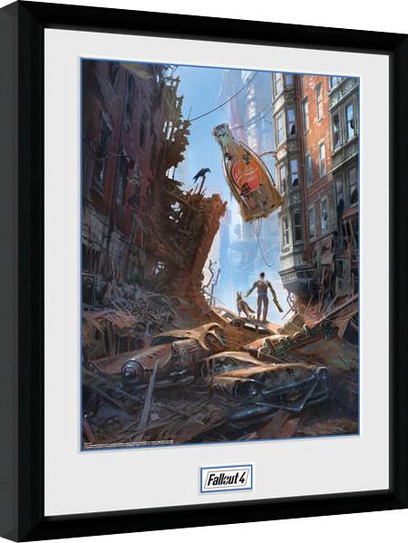 Fallout 4 - Street Scene zarámovaný plakát