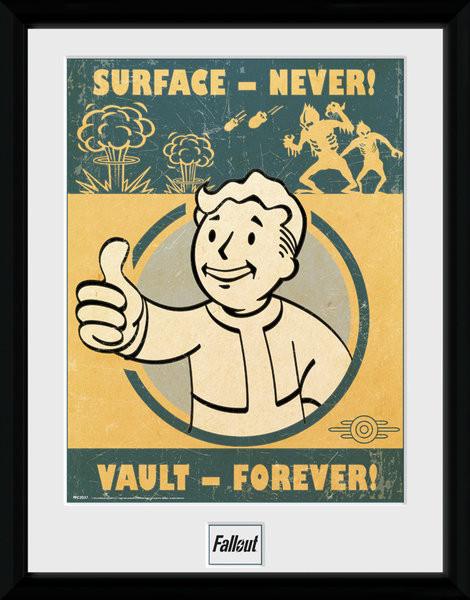 Fallout 4 - Vault Forever zarámovaný plakát