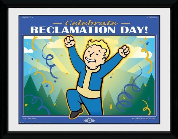 Fallout 76 - Reclamation Day Zarámovaný plagát