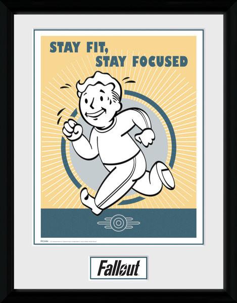 Fallout - Stay Fit zarámovaný plakát