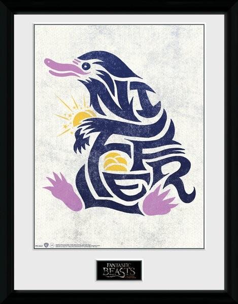 Fantastická zvířata - Niffler Graphic Symbol zarámovaný plakát